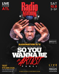 RadioNation ATL Takeover Flyer for SYWB Series